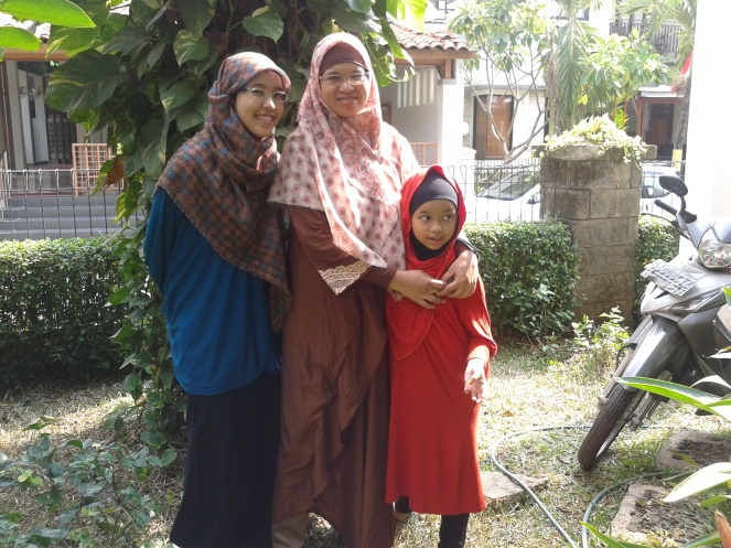 With Mother and Little Sister